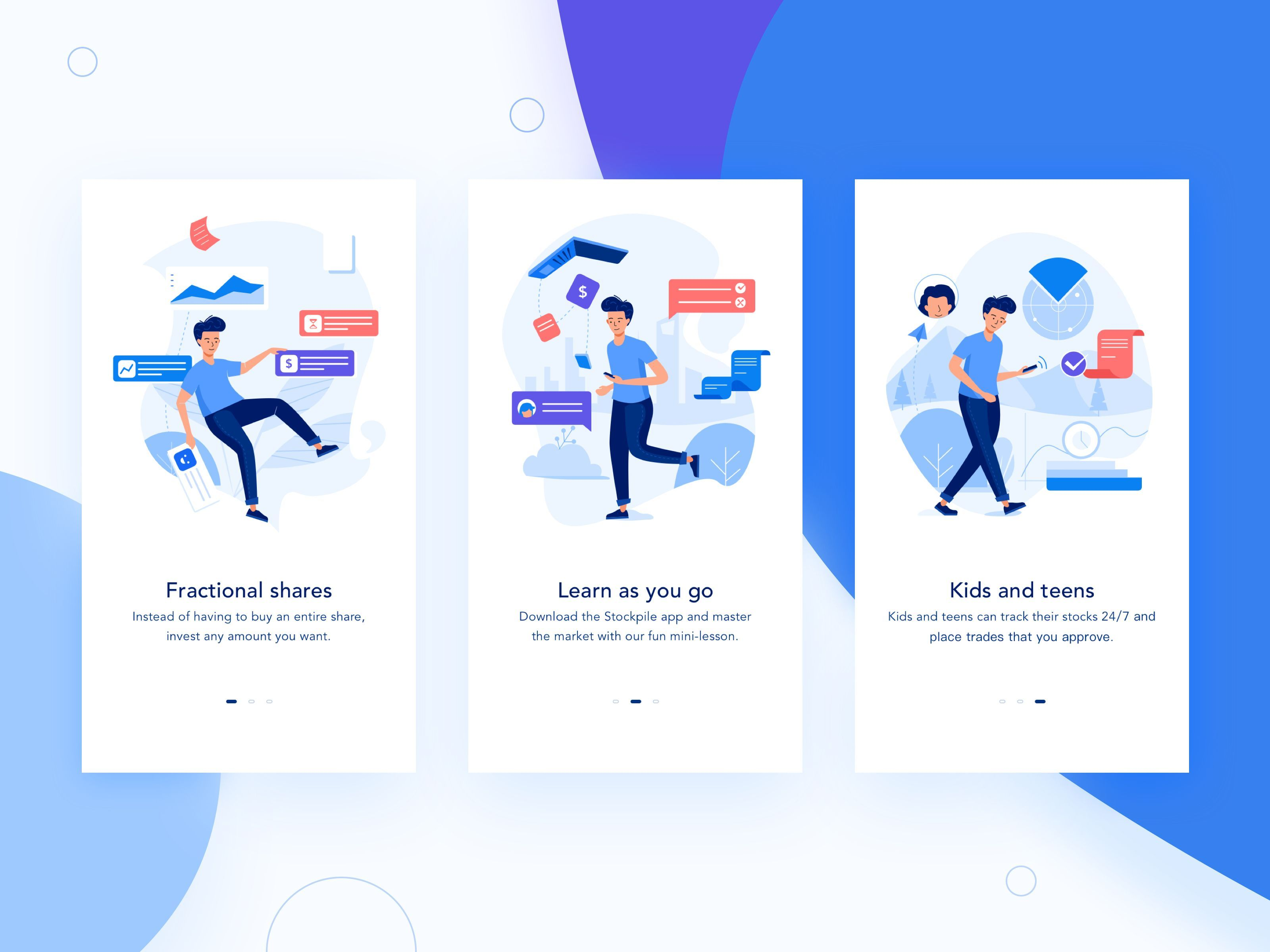 Finance App Onboarding Illustration Website design
