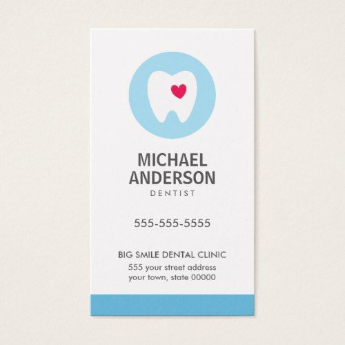 Dentist or dental clinic / assistant modern business card ...
