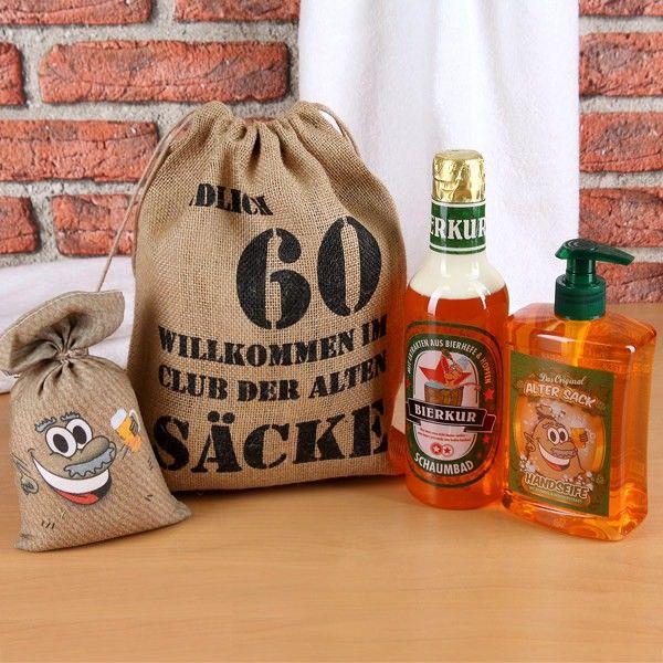 Geschenkset Alter Sack Zum 60 Geburtstag Geschenkset Geburtstag