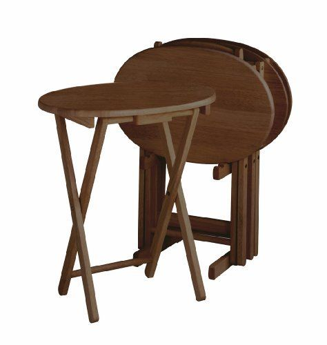 Winsome Wood Oval TV Table 5-Piece Set by Winsome Wood. $99.99. 5pc ...