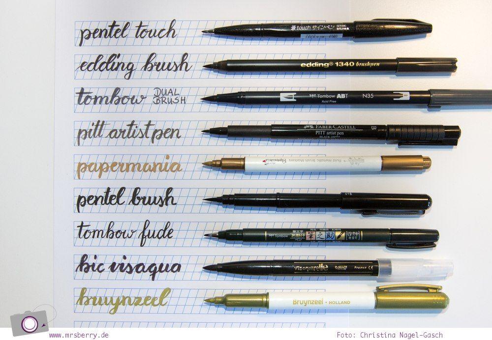 Lettering Guide: Materialien, Tipps & Tricks für Hand Lettering und Brushlettering - für Anfänger und Fortgeschrittene: Pinselstifte