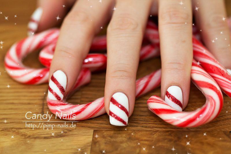 #Weihnachten #Nagelideen #frNagelideen für Weihnachten nail-art-candy-xmas-nailart-christmas-candy-cane-x-mas-2011-planet-nails