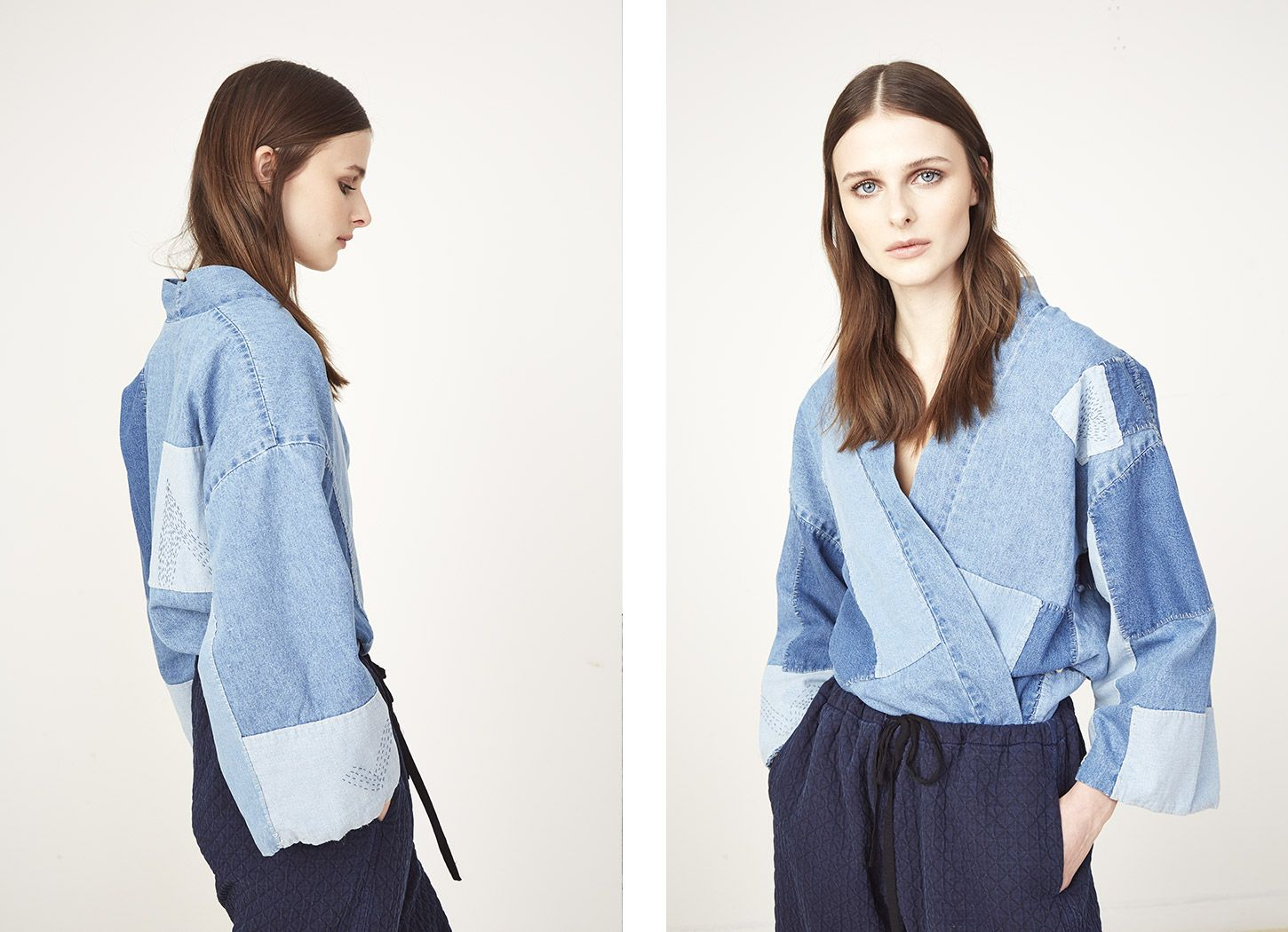 [Fall 2015 – Ulla Johnson] Patchwork wrap top.