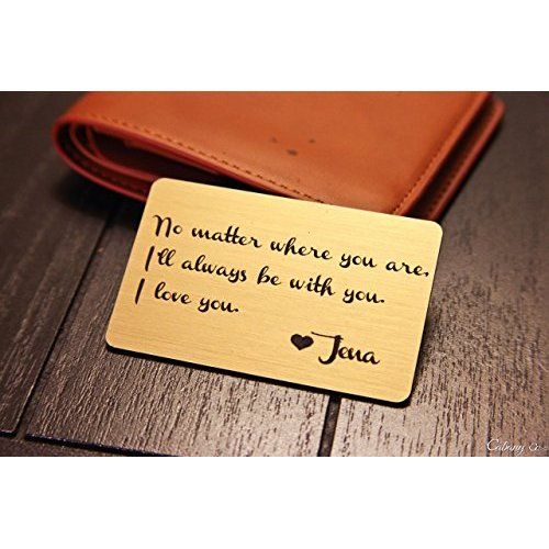 personalized wallet card Laser engraved wallet card insert wallet insert metal wallet card Engraved Color Photo Metal Wallet Insert