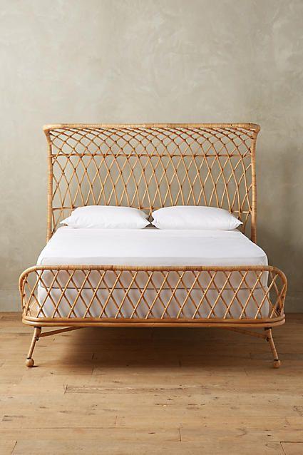 Curved Rattan Bed   Camas, Muebles de mimbre y Comedor de diario