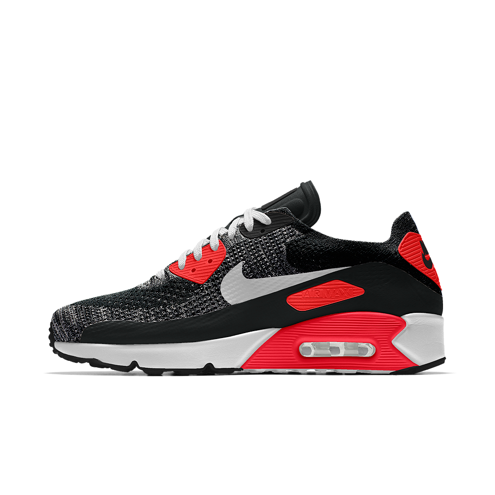 info for b2343 23e98 Nike Air Max 90 Ultra 2.0 Flyknit iD Men s Shoe Size 10.5 (Red) - Clearance  Sale