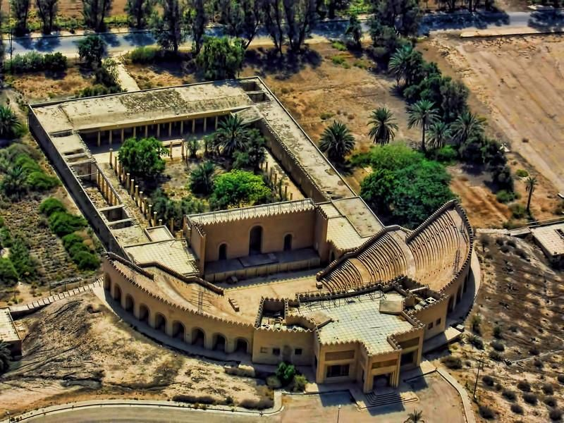 Located South Of Baghdad And Home To One Of The Seven Wonders Of The Ancient World The Hanging Gardens Of Bab Wonders Of The World Lost City Hanging Garden