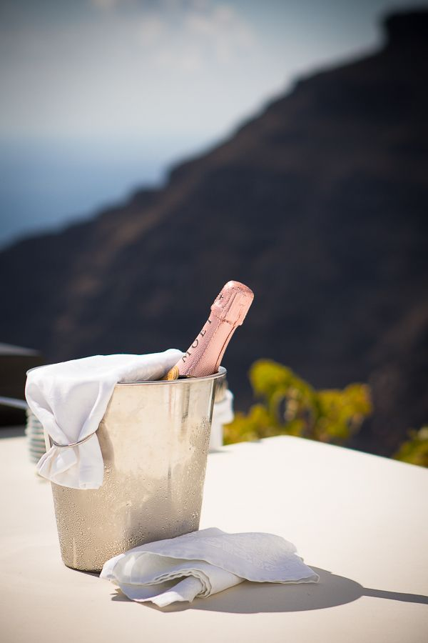 Moët Champagne! Pink! For Cheesie's romantic Grecian wedding! By @Sunrise Greece