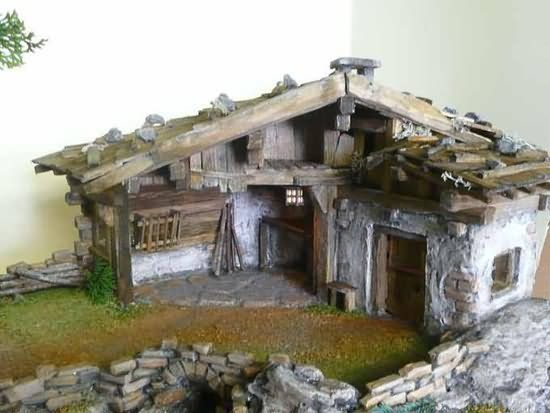 der krippenstall von schr g oben fotografiert krippen pinterest dioramas dollhouses and xmas. Black Bedroom Furniture Sets. Home Design Ideas
