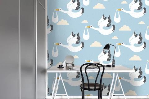 (1) 3D Swan Wild Geese Clouds Wall Mural Wallpaper 67