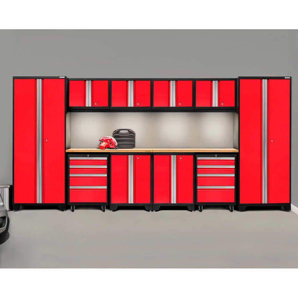 Warehouse Steel Cabinet Set Workshop 12pc Car Garage Metal Storage Furniture Red Ebay Storage Furniture Steel Cabinet Metal Garage Cabinets