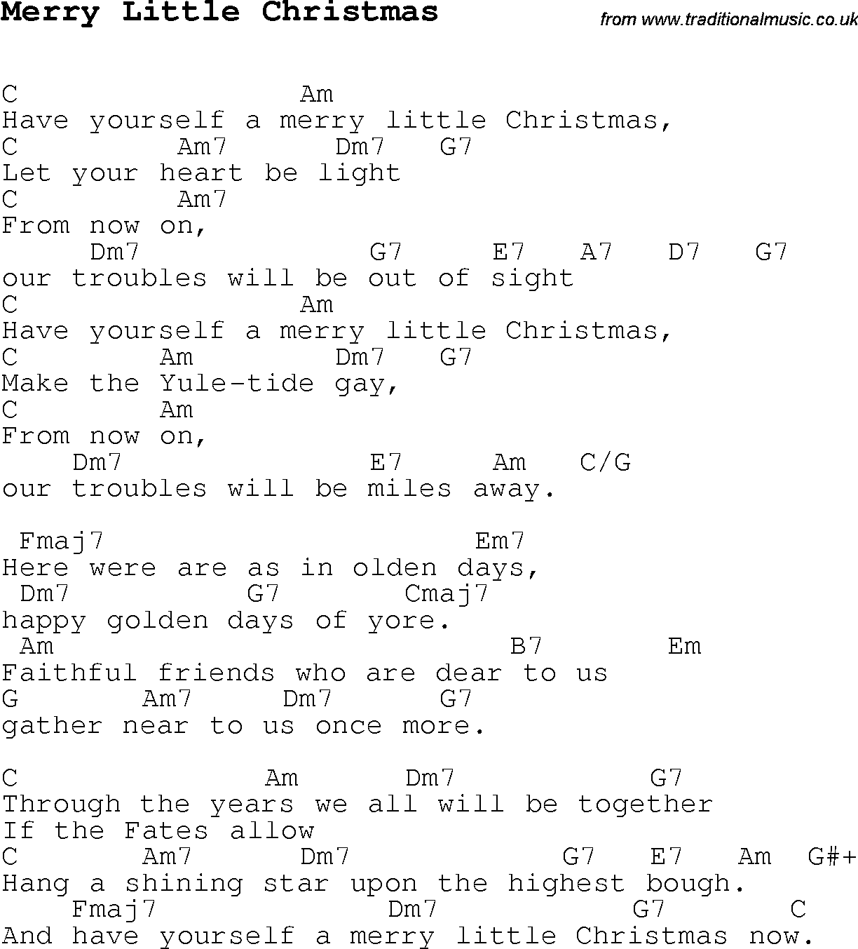 merry little christmas guitar chords christmaswalls co - Have Yourself A Merry Little Christmas Chords
