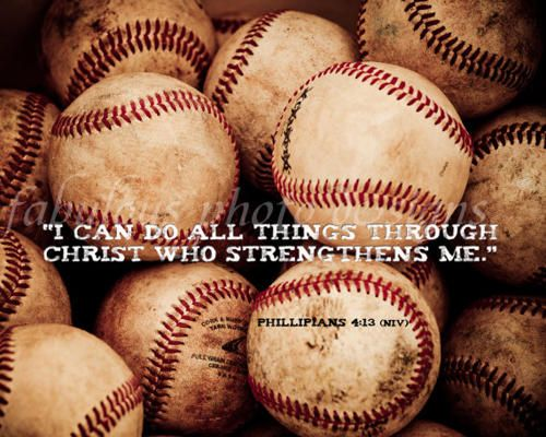 Tyler loves this scripture and usually has it written inside his baseball hat
