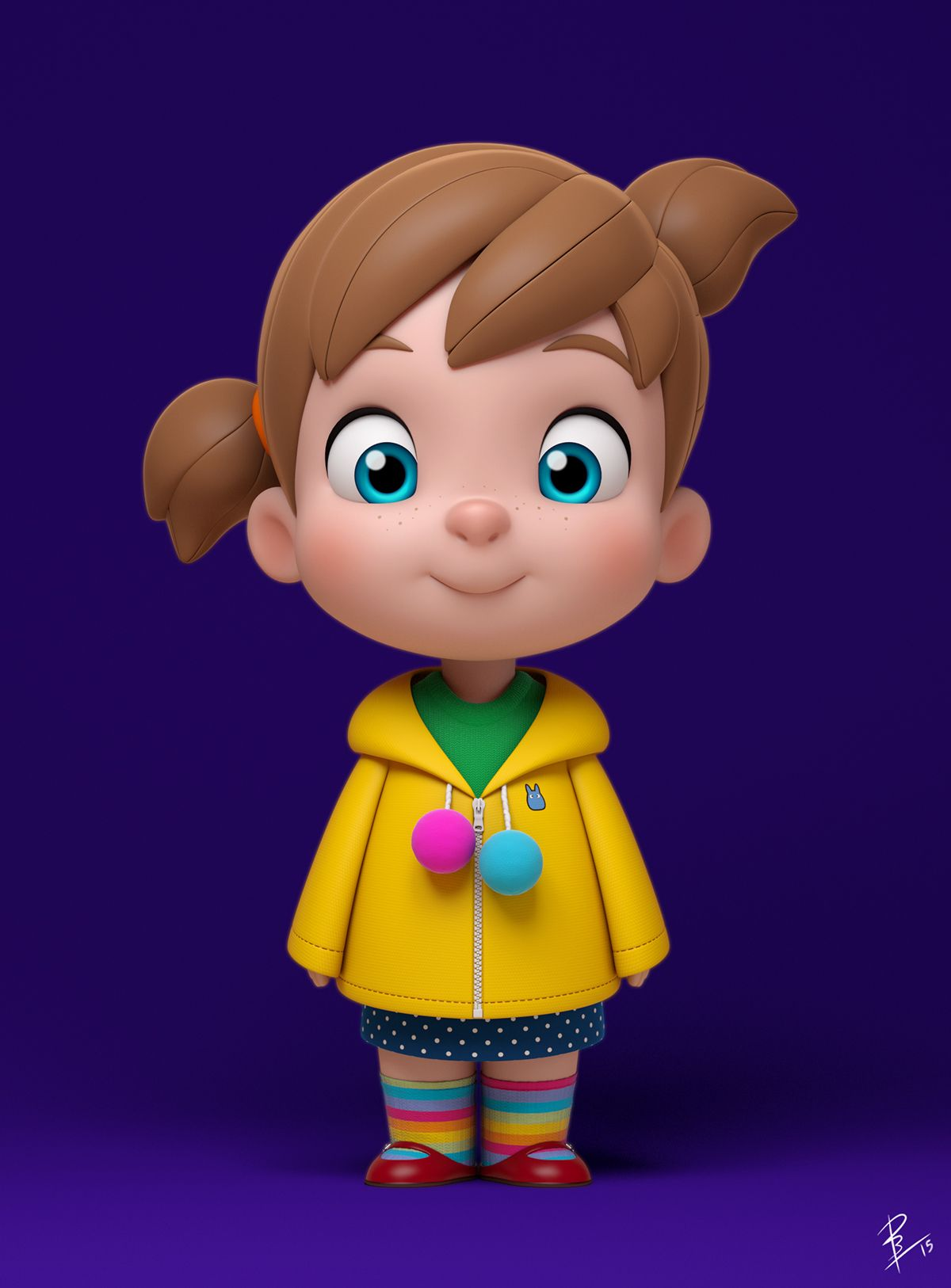 Character Model Based On A Design By Anderson Mahansky