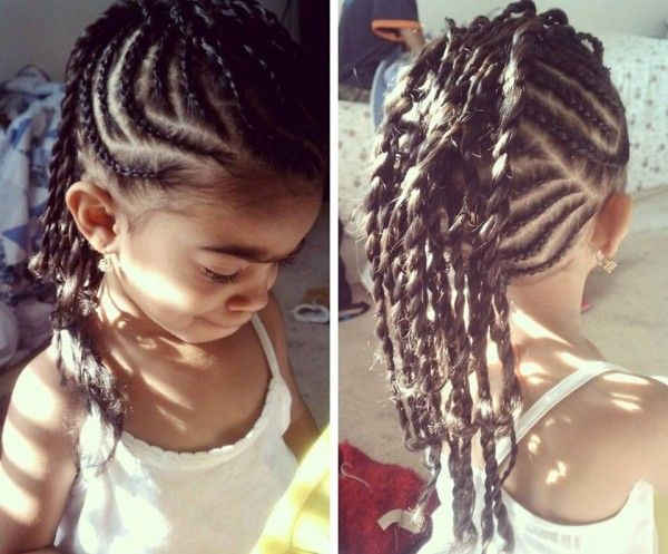 Natural Hair Braiding Styles For Kids: Carlena's Natural Braided Mohawk