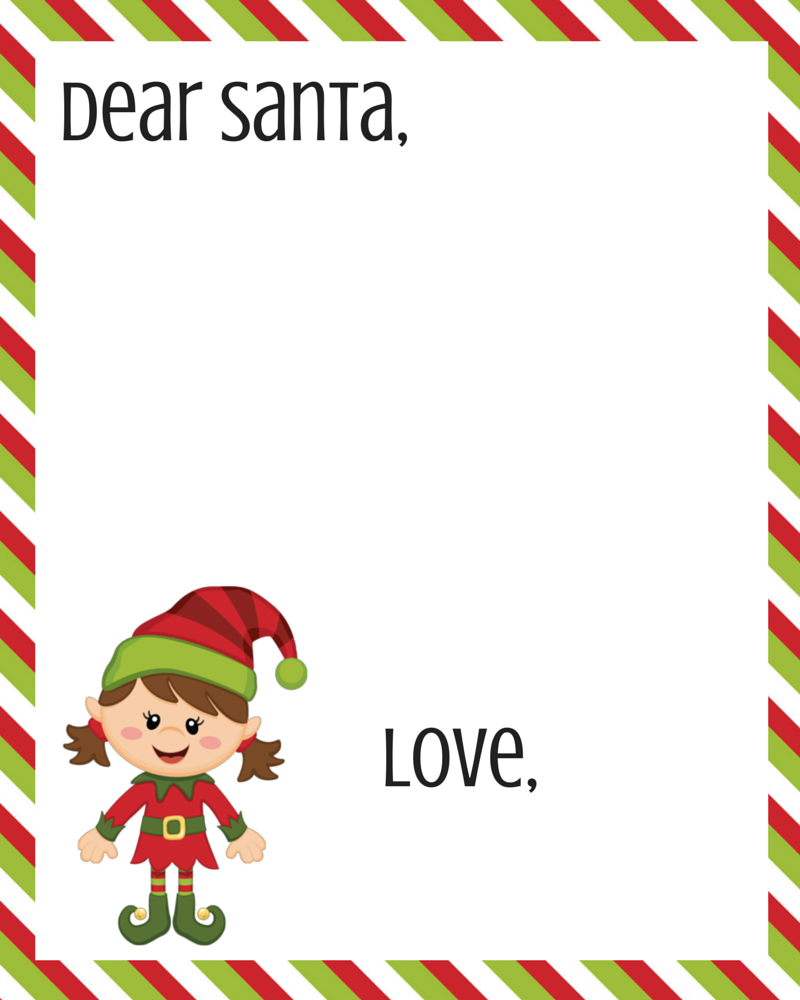 Free Dear Santa Printable Set | Dear Santa, Santa Letter Printable