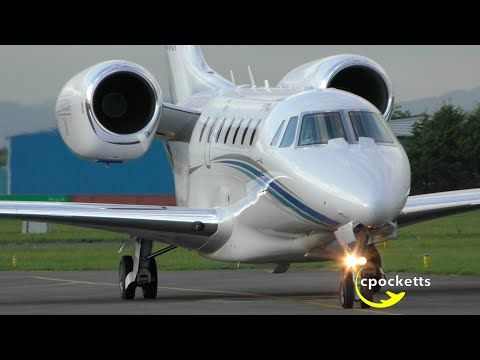 The Beautiful Cessna Citation 750 X N750gf Landing X2f Taxi X2f Take Off Gloucestershire Airport Youtube Cessna Taxi Gloucestershire