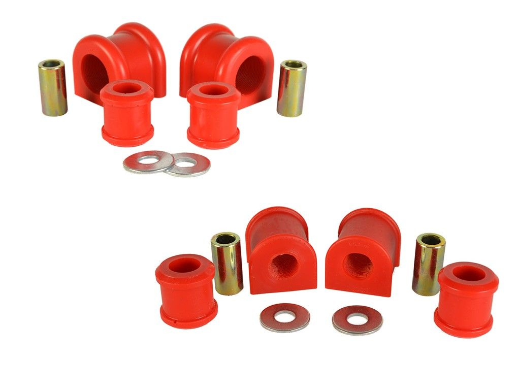 Jeep Wrangler JK Rear Sway Bar /& End Link Bushing Kit 19mm Sway Bar RED Poly