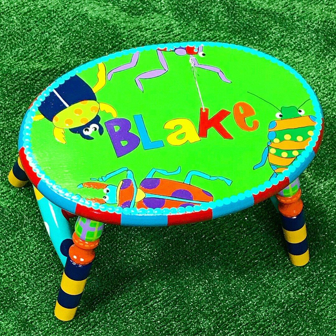 Bugs Step Stool Little Boy Stool Insect Theme Personalized