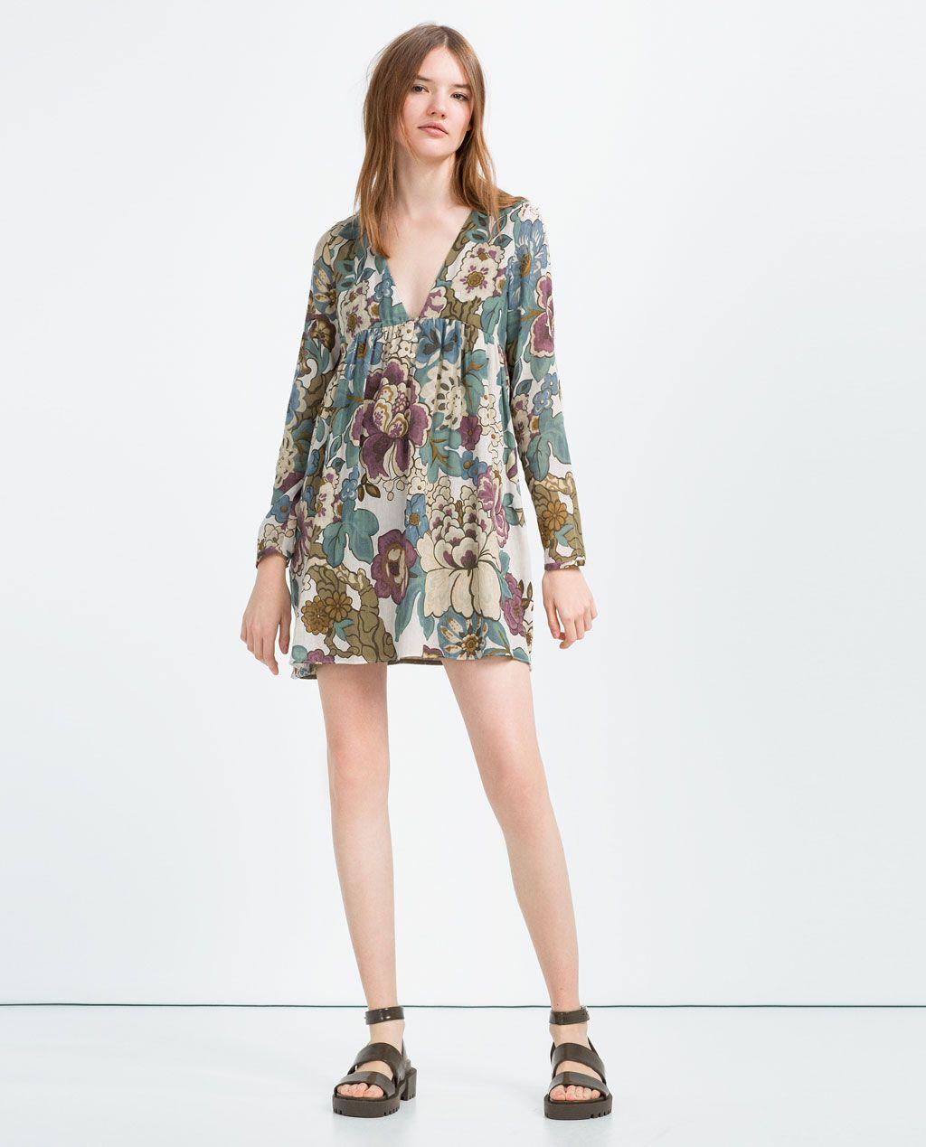 PRINTED DRESS-View All-DRESSES-WOMAN | ZARA United States ...