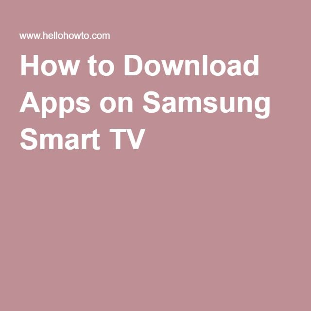 How to Download Apps on Samsung Smart TV | Smart TV | Samsung smart