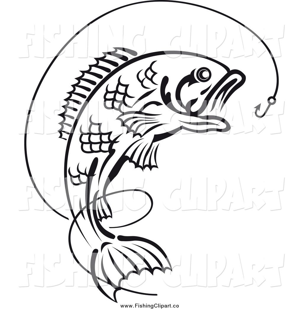 Clip Art Black And White Bobber