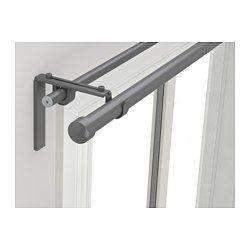 Racka Hugad Double Curtain Rod Combination Silver Color 82 5 8