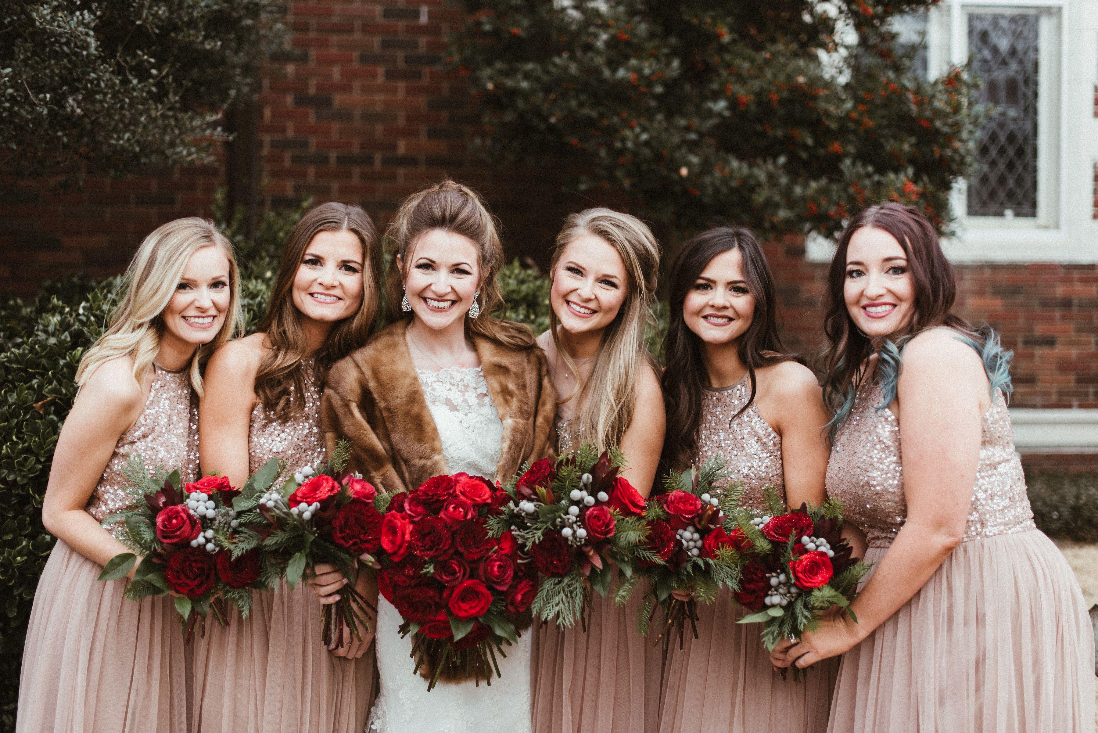 bridesmaids florals: hannah allen, little rock dresses: asos