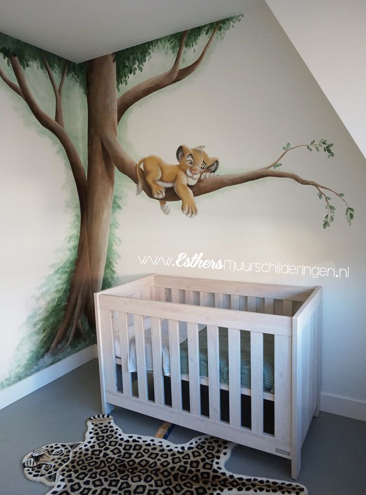 Wandbilder Für Babyzimmer Mural Painting In The Baby Room Of Simba By The Lion King ...