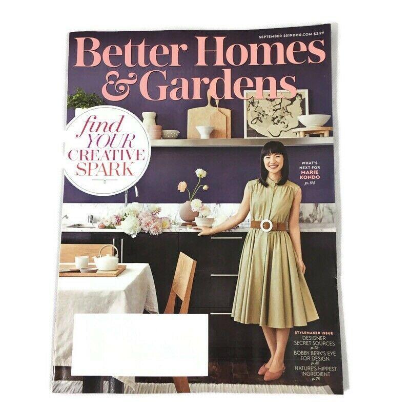 Better Homes Gardens September 2019 Magazine Marie Kondo Stylemaker Issue New Better Homes And Gardens Home Goods Finding Yourself