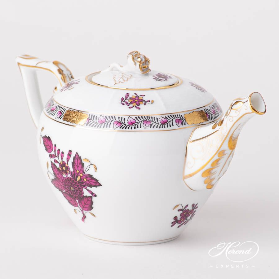 Tea Pot - Miniature - Chinese Bouquet / Apponyi Burgundy #teapots