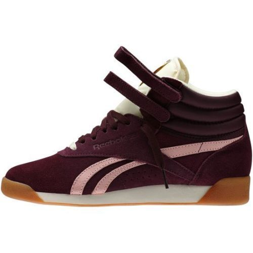 62bad2290bb Reebok-Classic-Freestyle-Hi-Top-Suede-INT-Womens-Trainers-Burgundy-Retro