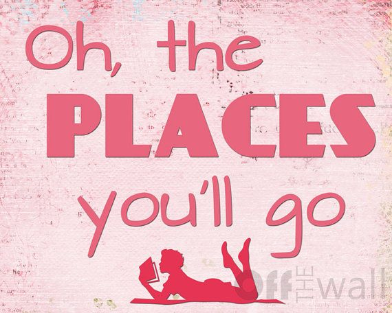 Oh the Place You'll Go Reading 8x10 Fine Art by OffTheWallbyLeah, $15.00