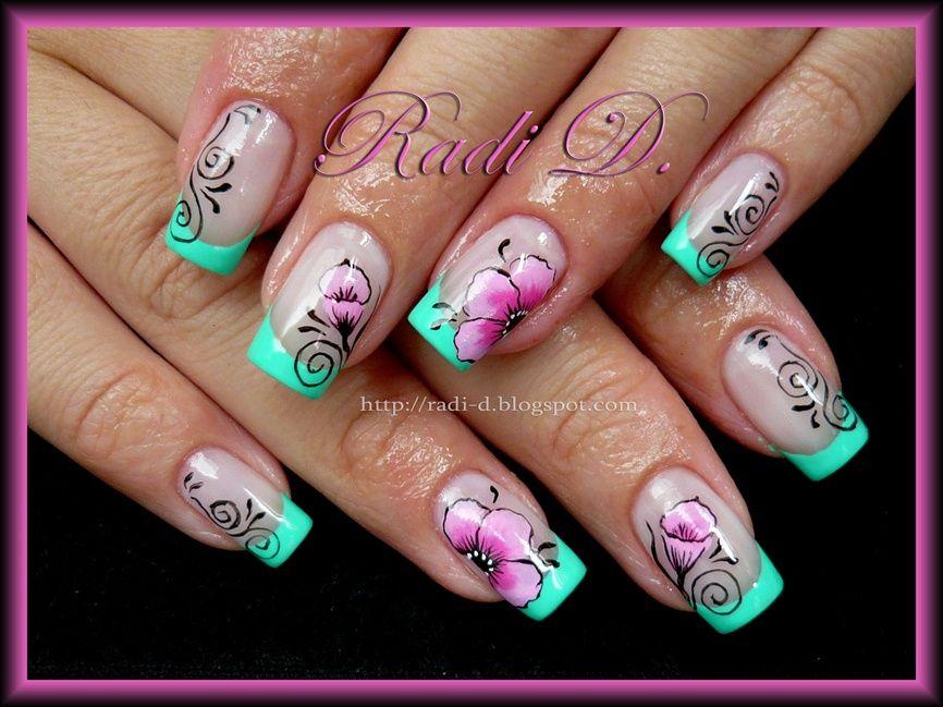Pin by Agnė Karaliūtė on Nails | Pinterest | French nails, Flower ...