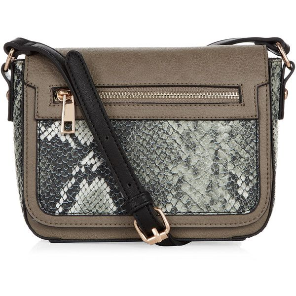 Accessorize Alexie Snake Trim Across Body Bag 165 Sar Liked On Polyvore Featuring