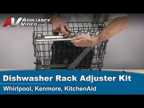 Whirlpool Kenmore Kitchenaid Dishwasher Replacement Rack Adjuster Kit W10712394 V Rail Dishwasher Racks Replace Dishwasher Kitchenaid Dishwasher