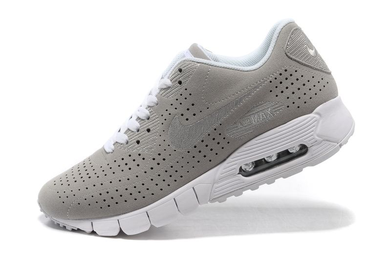 Nike Air Max 90 Current Moire Mens Light Grey White Running Shoes