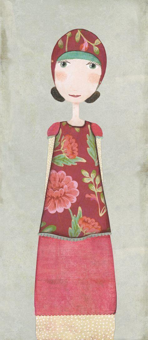 27 Trendy Flowers Ilustrations girl