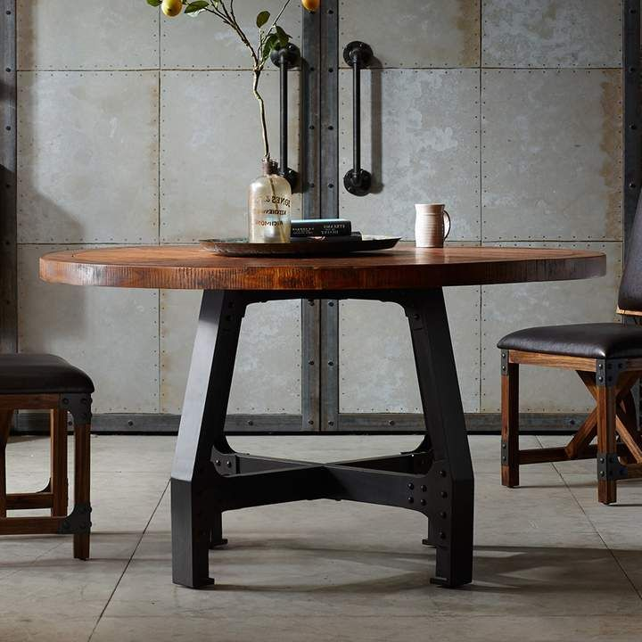 Ink Ivy Lancaster Round Dining Table In 2020 Metal Round Dining Table Dining Table Dining Table Legs