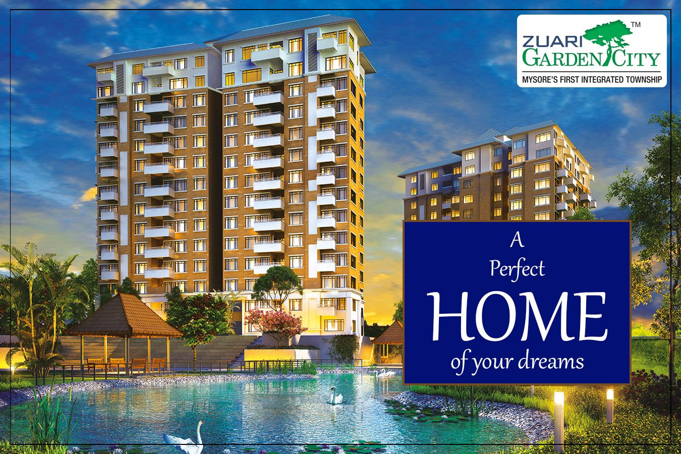 Witness The Sheer Luxury Of Relaxation And Much More Zuarigardencity Mysore 2 3 4 Bhk Apartments Marked With Internat Garden City Mysore Best Architects