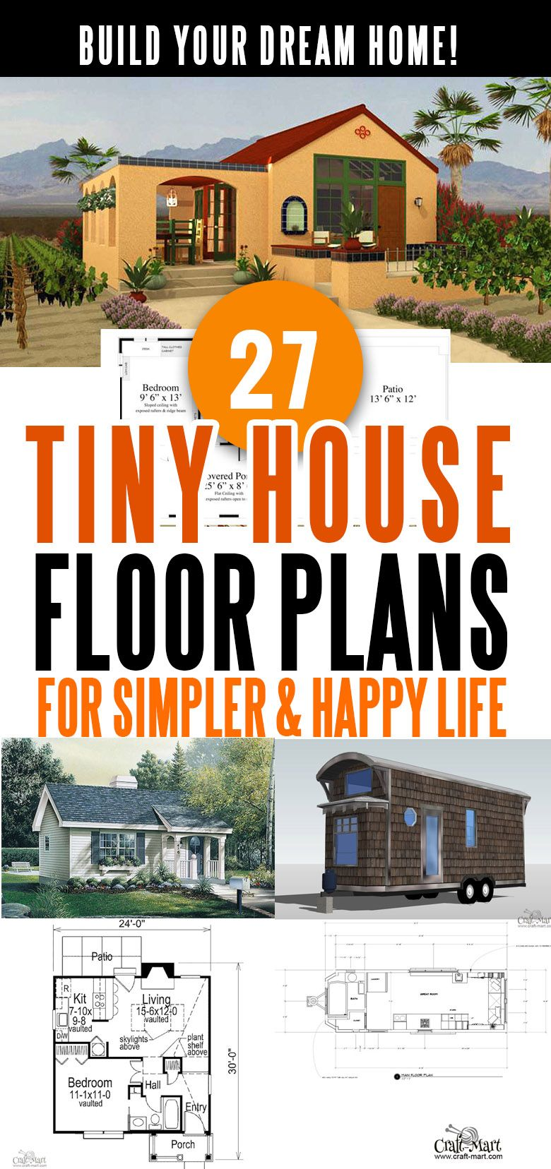 27 Adorable Free Tiny House Floor Plans Craft Mart Tiny House Floor Plans House Floor Plans Small House