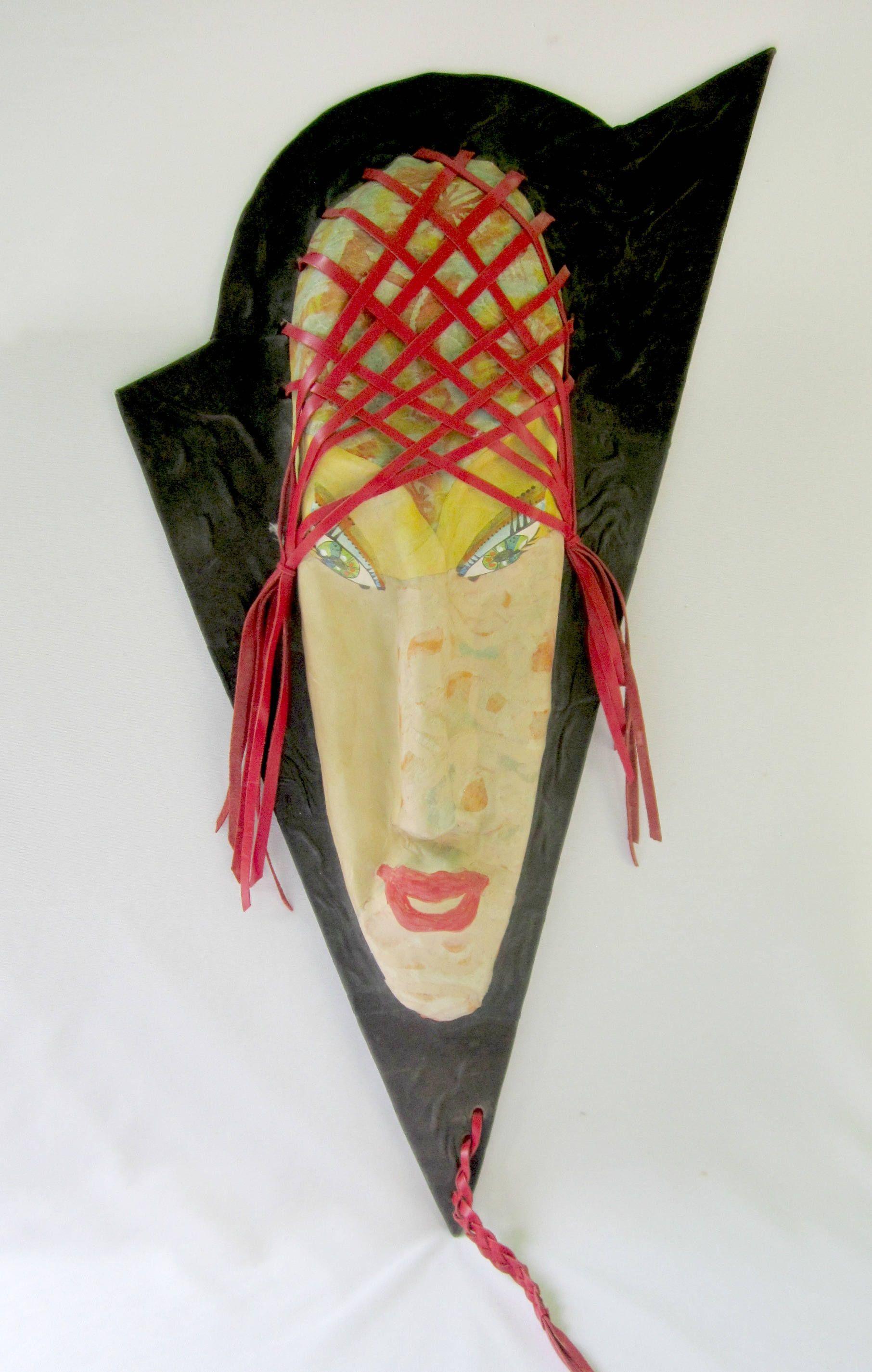 On Reserve for Julie...Face Wall Art Paper Mache Unique Home Studio ...