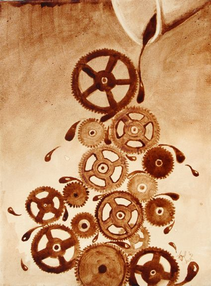 Coffee Art®   Gets the Gears Going