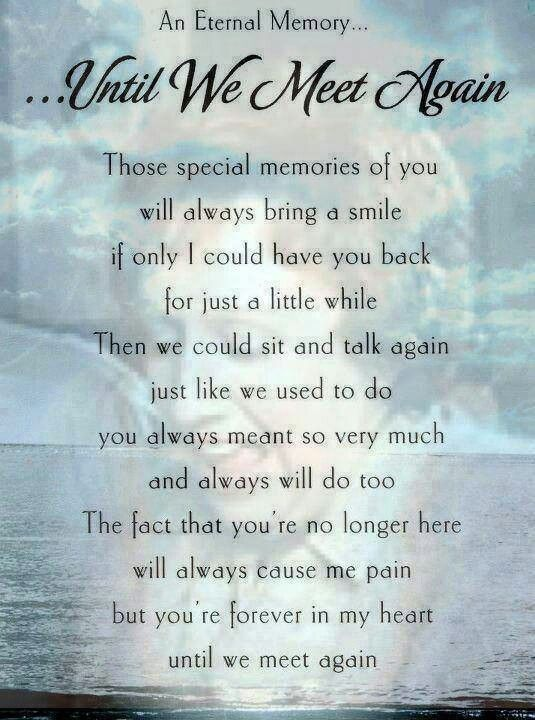 Until We Meet Again Favorite Sayings Quotes Dad Quotes Heaven