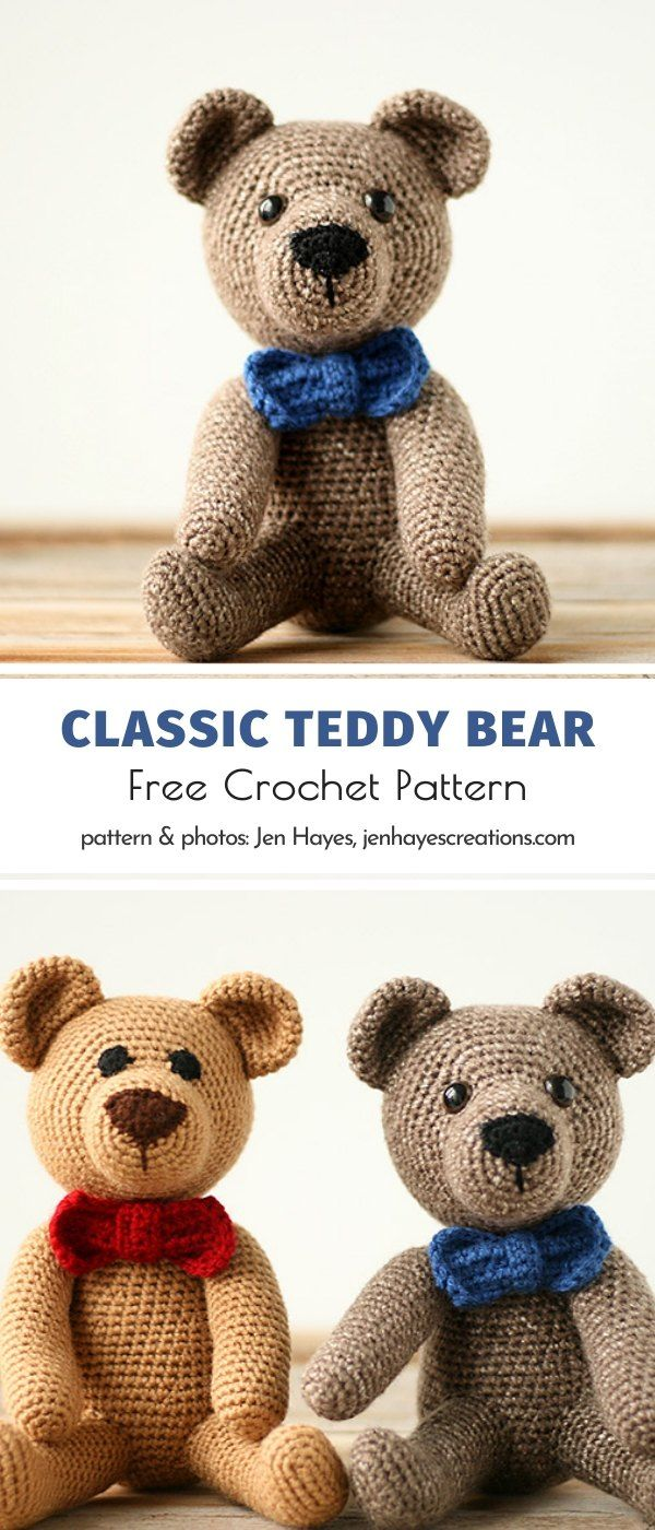 Classic Teddy Bear Free Crochet Pattern