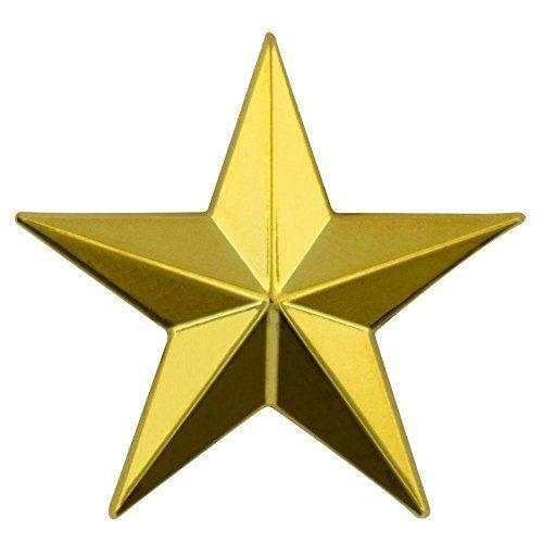 3d 5 Point Gold Star Lapel Pin Desain Pengeditan Foto