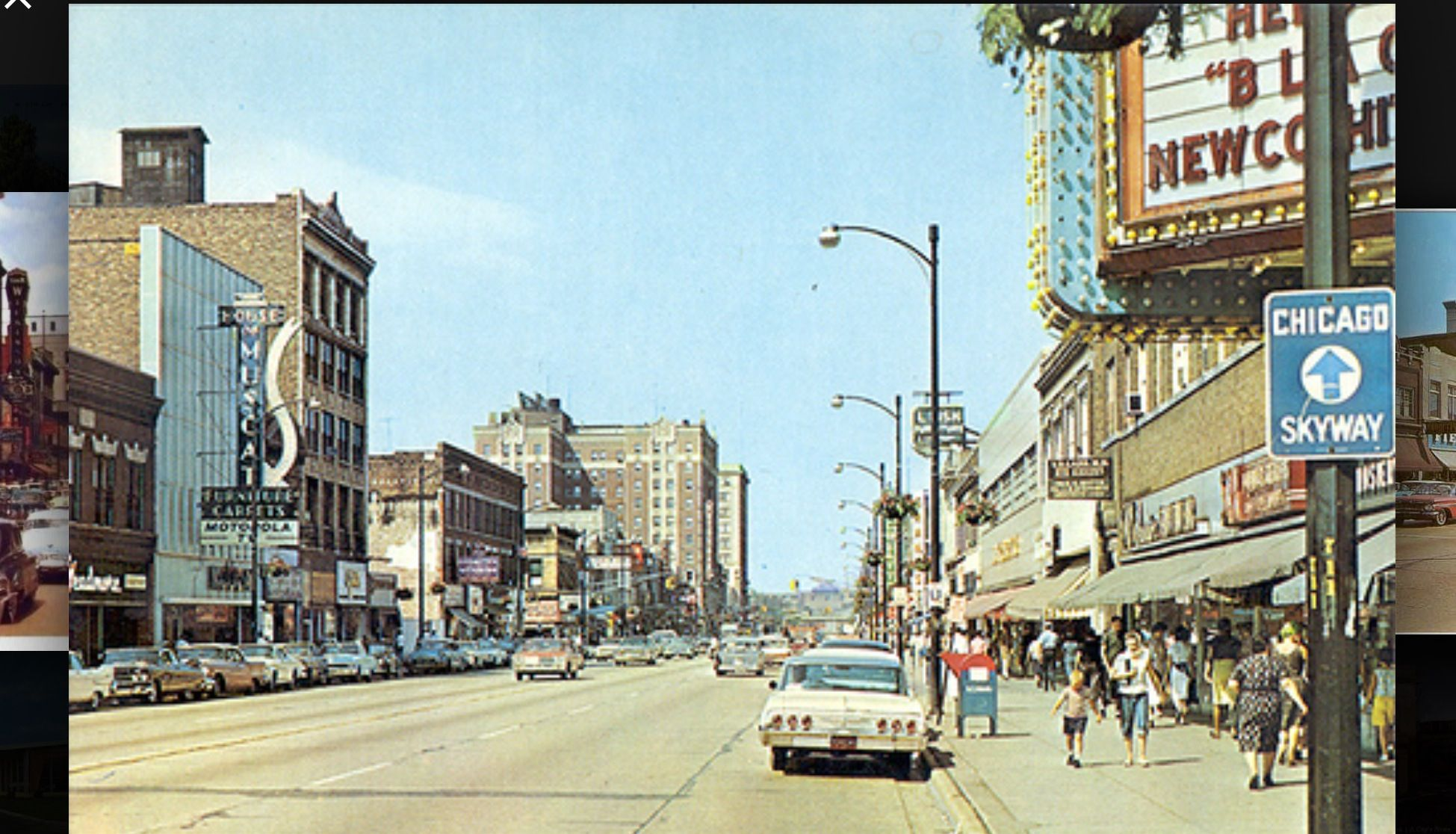 Downtown Gary Indiana In The 1960s Taken In Front Of The Palace Theater Gary Indiana Indiana Cities Indiana