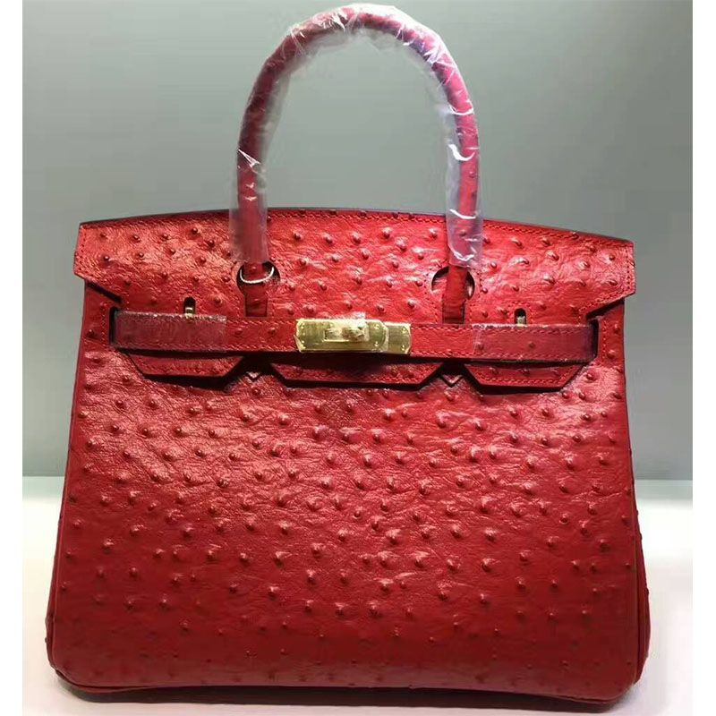 9cce431dba Hermes Birkin Bag Ostrich Leather Gold Hardware In Red | Hermès ...