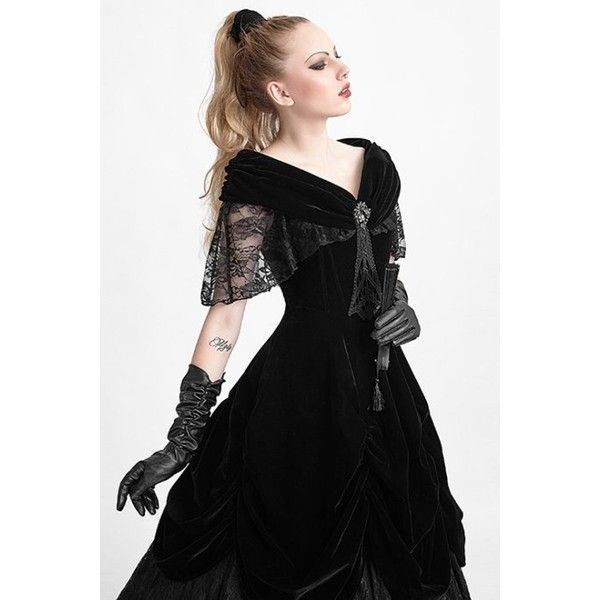 Lady de la Morte Gothic Prom Dress by Punk Rave ($180) ❤ liked on ...
