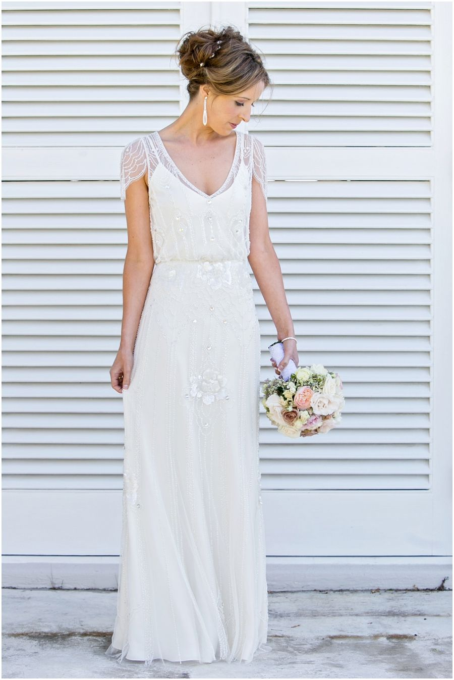 Brautkleid mit Spitze, zart, romantisch, Hochzeitskleid, Brautkleid ...